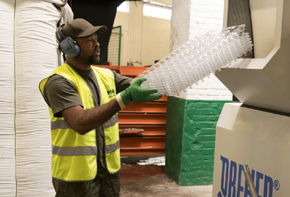 Your plastic production scrap, processed directly for recycling