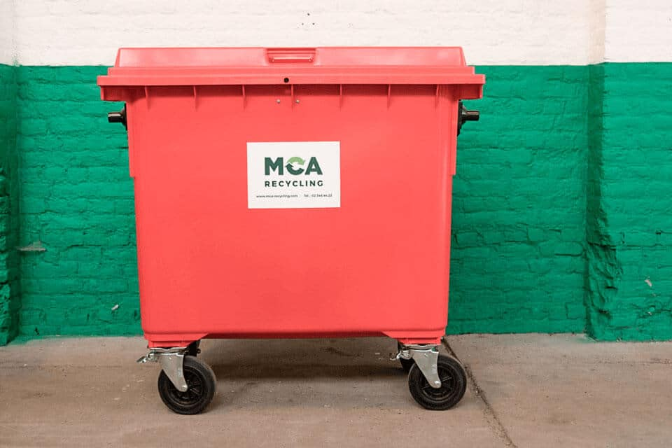 660-litre secure container on castors. Use: confidential papers, hard disks, cassettes,…