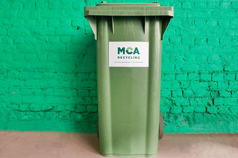 120-litre organic waste container. Use: food waste (without packaging).